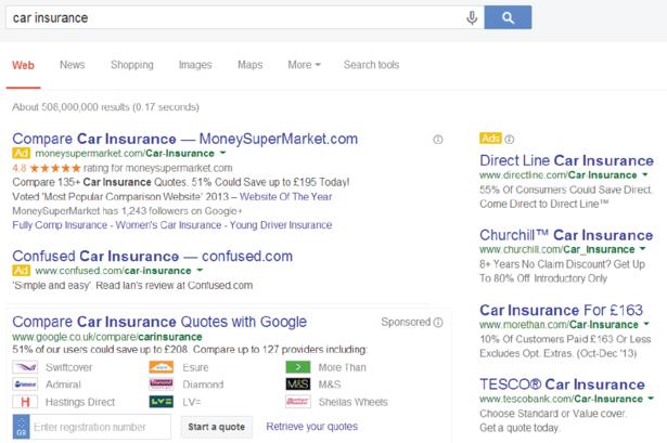 Google's Comparison Tool
