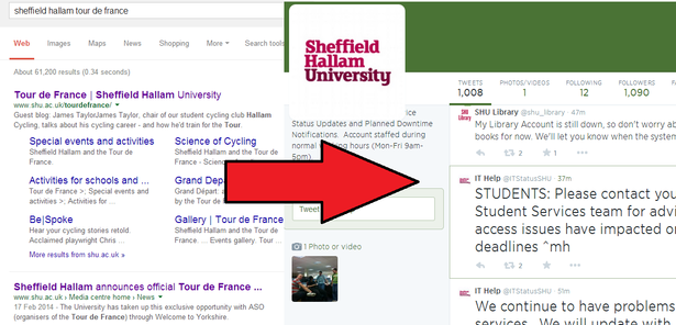 sheffield hallam website down
