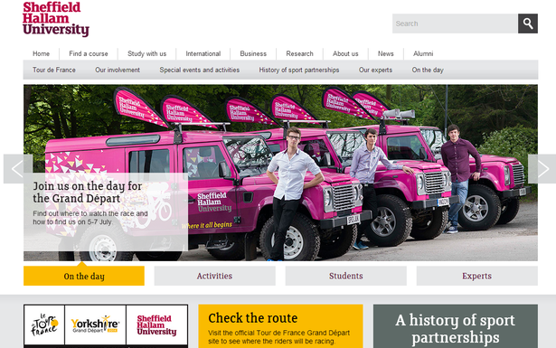 sheffield hallam uni website
