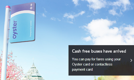 cash free buses in London