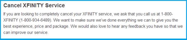 xfinity cancel