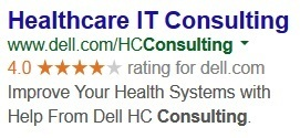 Dell AdWords ad for IT consulting