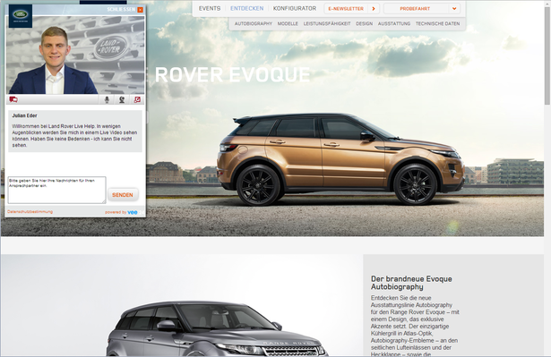 land rover live chat