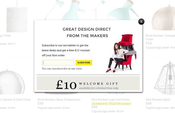 email promo - made.com