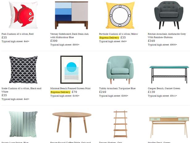 made.com product listings