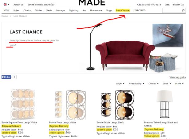 last chance - made.com
