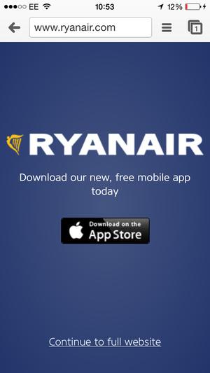 ryanair mobile app