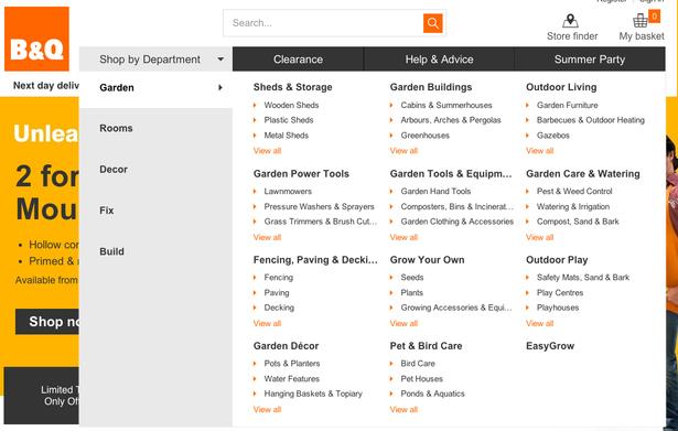 b&q menu 2014