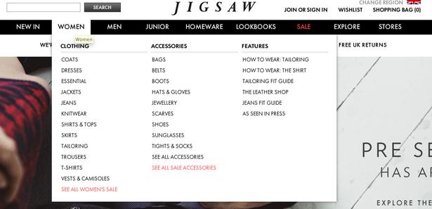 jigsaw menu