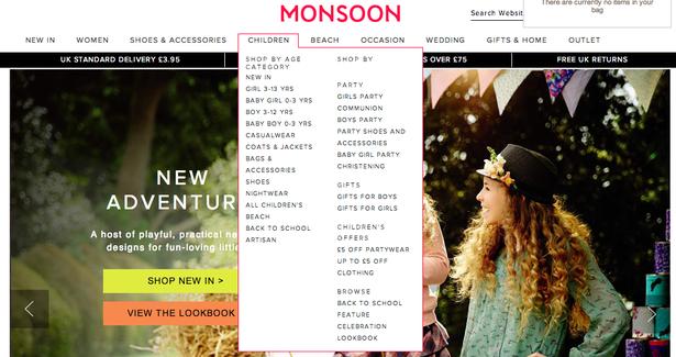 monsoon menu