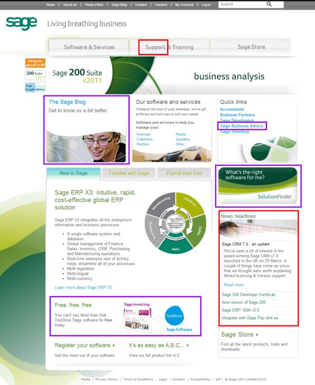 sage homepage 2010