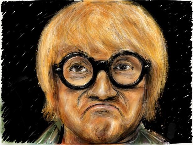 david hockney self portrait on ipad