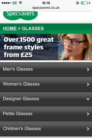 specsavers mobile