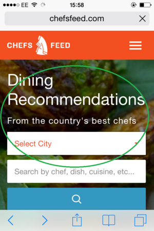 chefs feed mobile