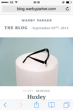 warby parker mobile