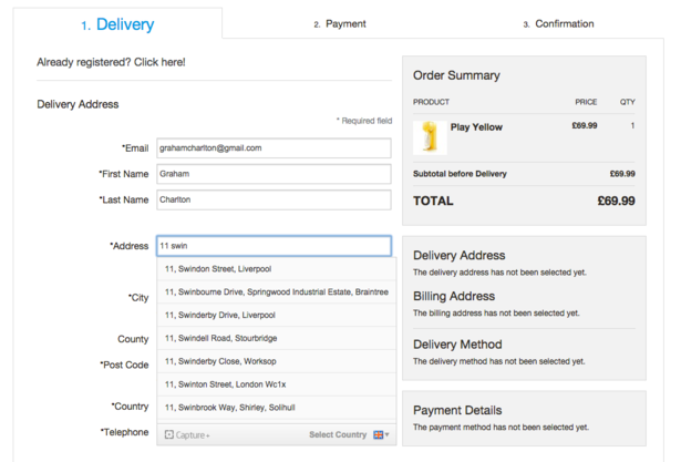 supporto compeletamento indirizzo nel carrello e-commerce