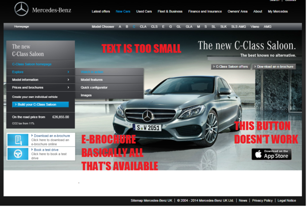 mercedes product page
