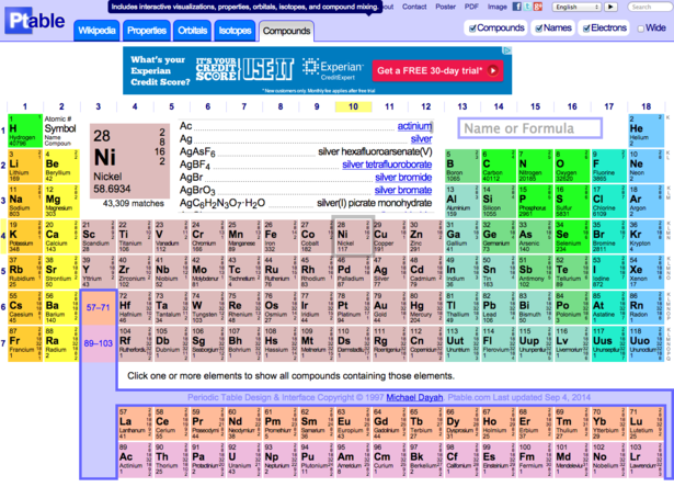 periodic table android app - Dynamic Periodic Table App