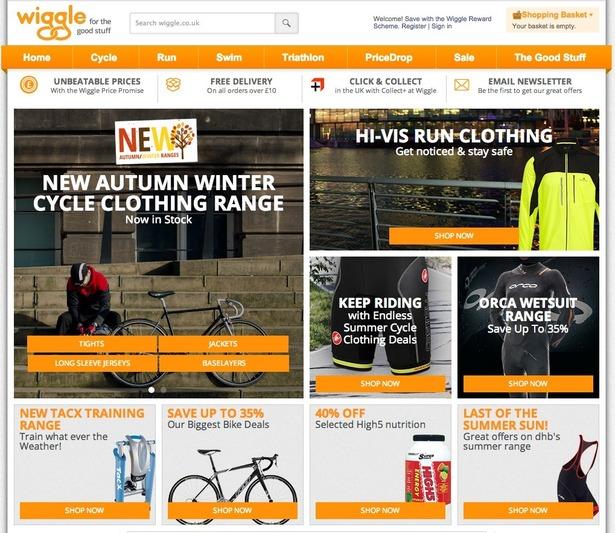 wiggle homepage
