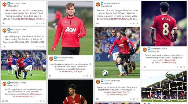 Manchester United social hub