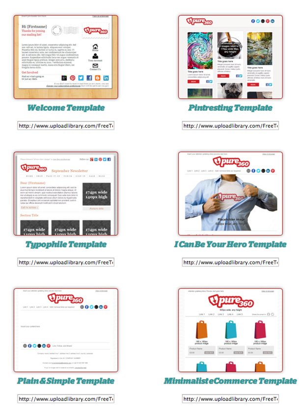 12 free email marketing templates for small businesses econsultancy pure360 pronofoot35fo Choice Image