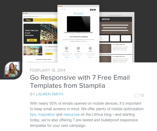12 free email marketing templates for small businesses | Econsultancy