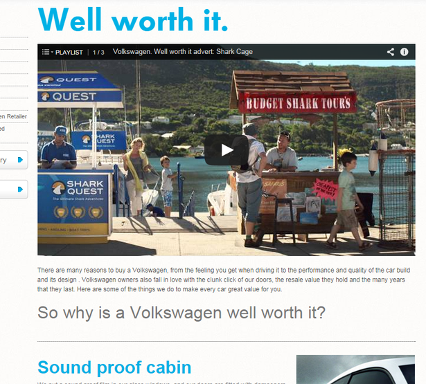 vw embeds youtube vids