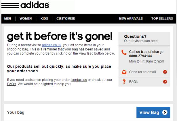 adidas click b2b
