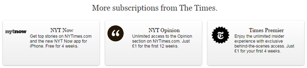new york times subscriptions