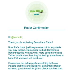 samaritans radar email