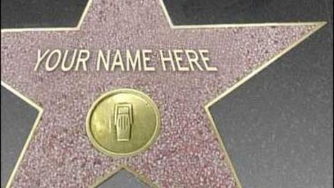 Personalised Hollywood star