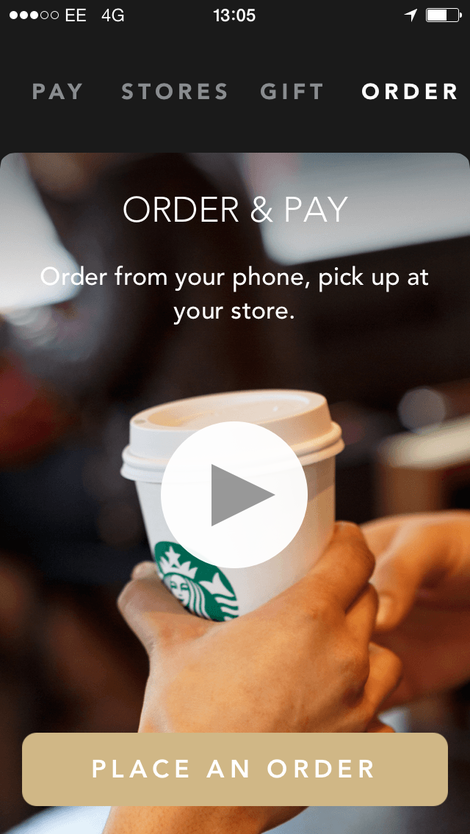 starbucks order and pay