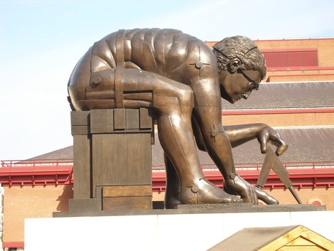 newton by blake by paolozzi
