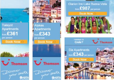 Varieties of Thomson ads
