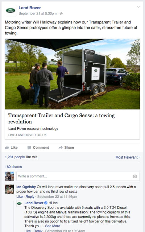Land Rover on Facebook