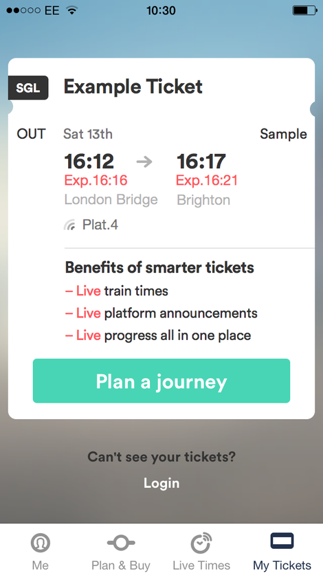 trainline ticket