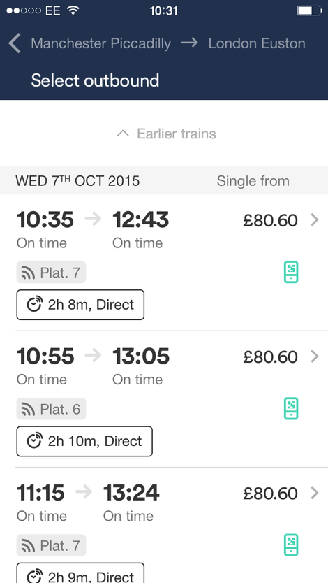 trainline mobile app