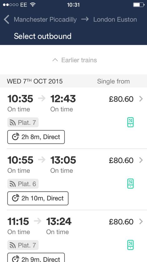 trainline mobile app