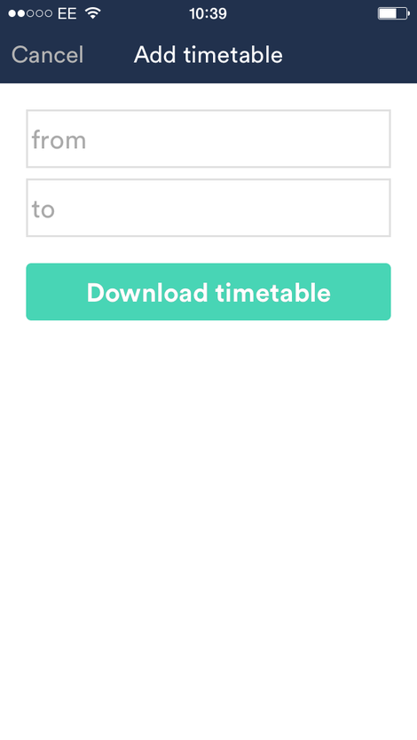trainline app table download