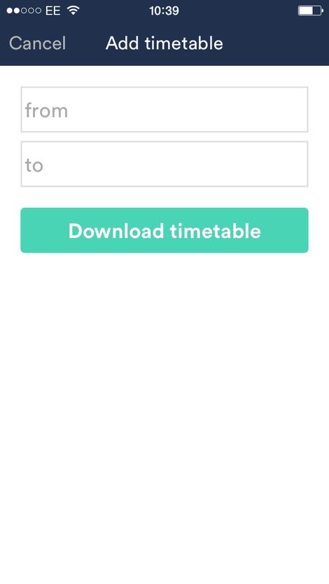 trainline app table download