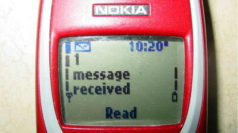 Text message alert