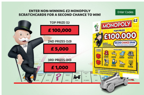 second chance scratchcard