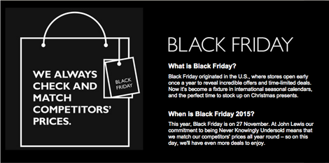 John Lewis black friday offers