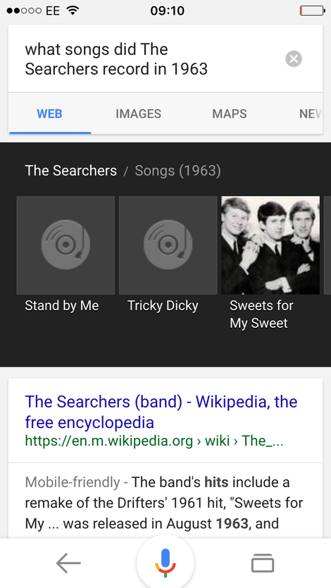 the searchers songs, 1963