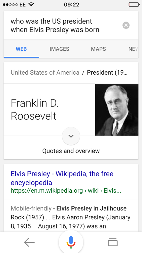 who was US President when Elvis was born