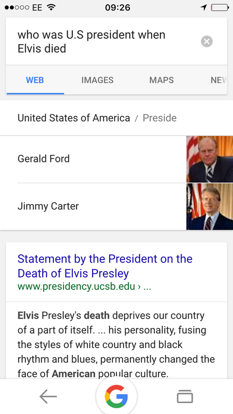who was president when elvis died