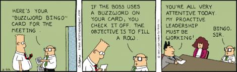 Dilbert.com Buzzword Bingo