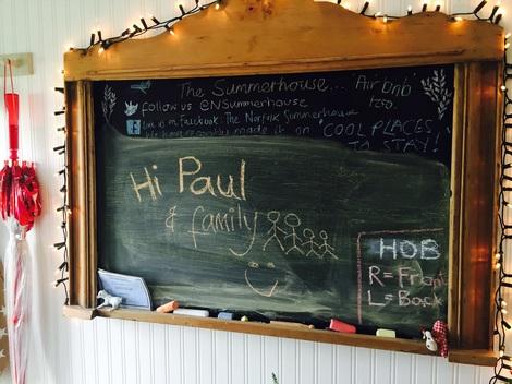 Chalkboard note