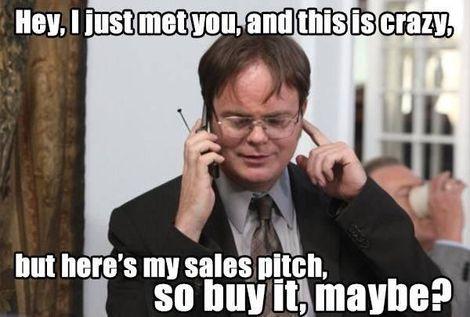 Pushy salesman