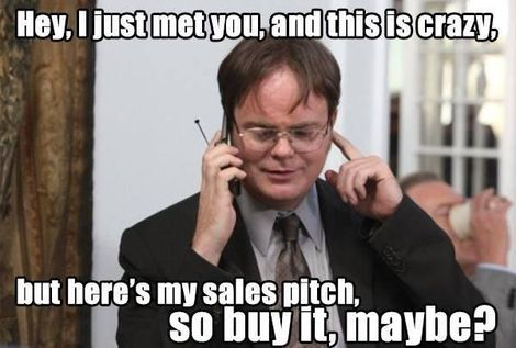 Pushy salesman